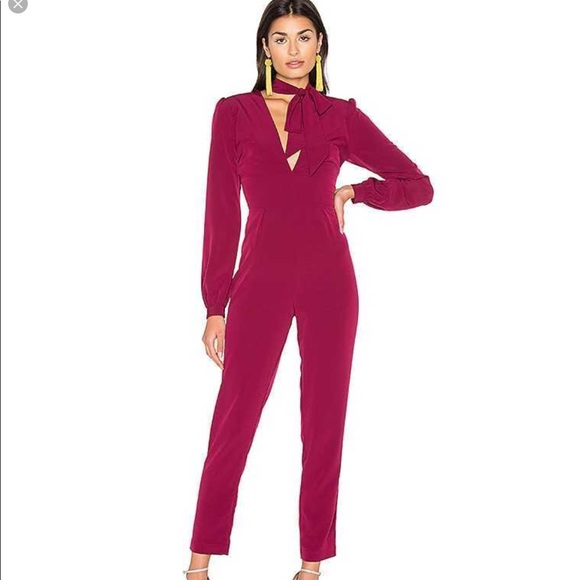Majorelle Bella Jumpsuit in Berry NWT